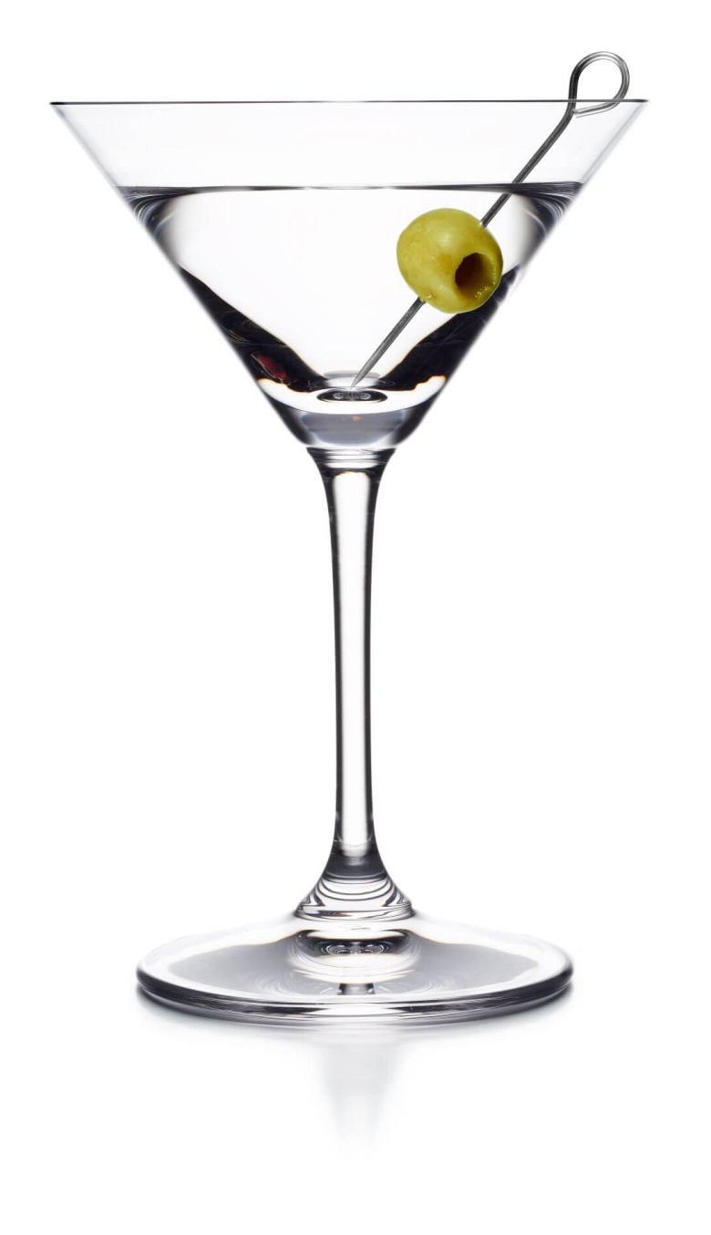 Dry Martini recipe at International Bartenders Association: The martini is a cocktail made with gin and vermouth, and garnished with an olive or a lemon twist. Over the years, the martini has become one of the best-known mixed alcoholic beverages.