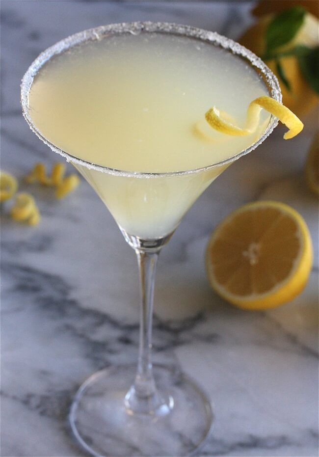 This Lemon Drop shot is more of a mixed drink, and it's quite easy to get down. In this method, triple sec takes over as the sweetener, and it certainly has less of a pucker than the other methods.