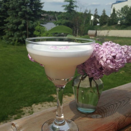 Lilac Gin Sour