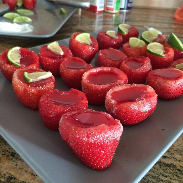Strawberry Margarita Jell O Shots Cocktail Recipe Shakethat