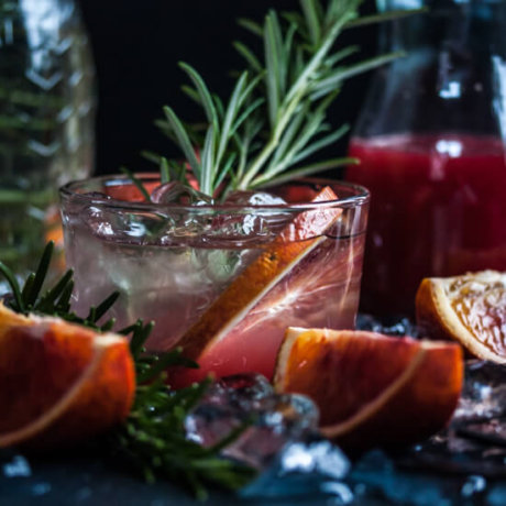 Blood orange, Rosemary & Gin cocktail